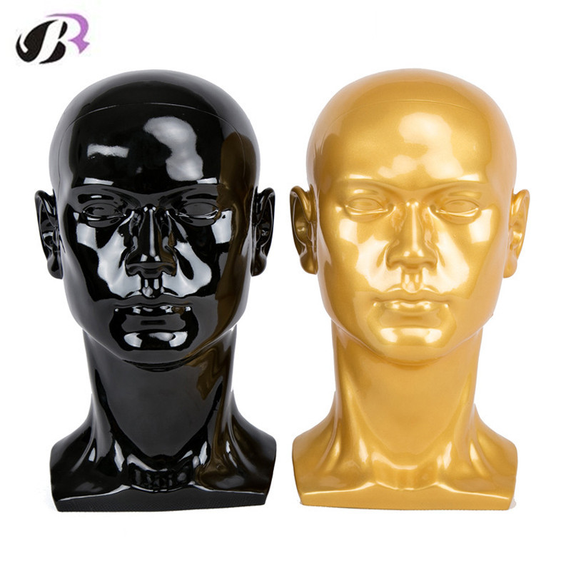 New Arrival Creative PVC Male Mannequin Head With Ears Men Smooth Mannequin Head Model Wig Hat Glasses Caps Display Manikin Doll new 2pcs female right left vivid foot mannequin jewerly display model art sketch
