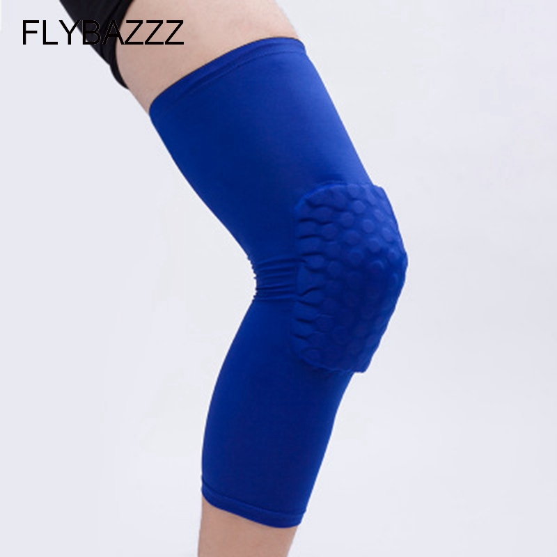 FLYBAZZZ Breathable Basketball Knee Pad Calf Supports Sports Safety Kneepad Bumper Brace Kneelet Leg Sleeve Knee Pad Protector in Elbow Knee Pads from Sports Entertainment