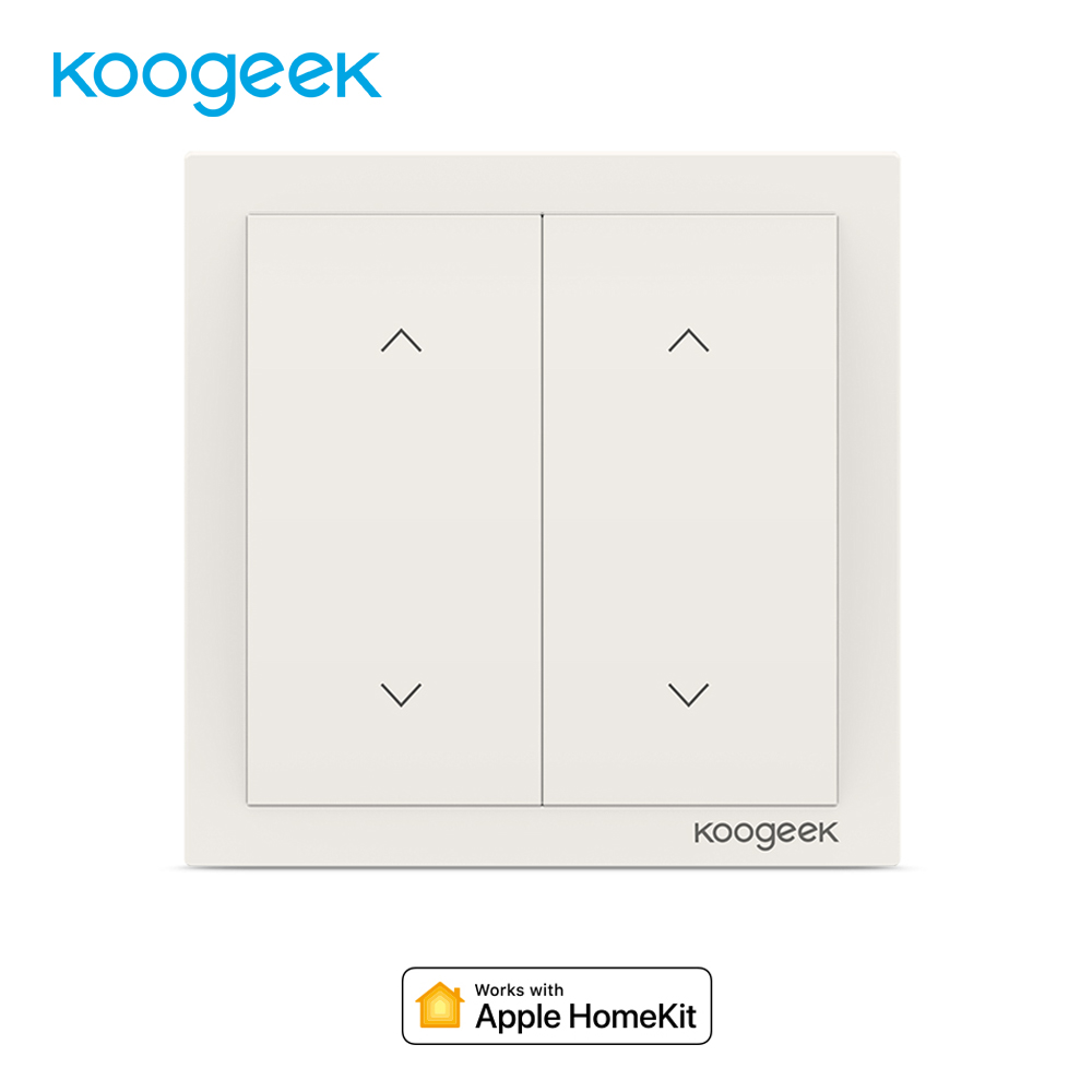 Koogeek 2 Gang WiFi Smart Light Dimmer Wall Switch Energy Monitoring Voice Remote Control for HomeKit