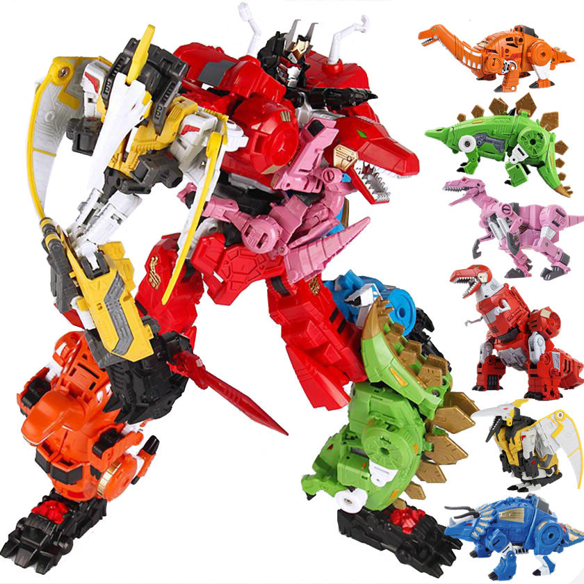 New 5 in 1 Oversize Transformation dinosaur Model Toy Anime KO G1 Devastator Action Figure Aircraft