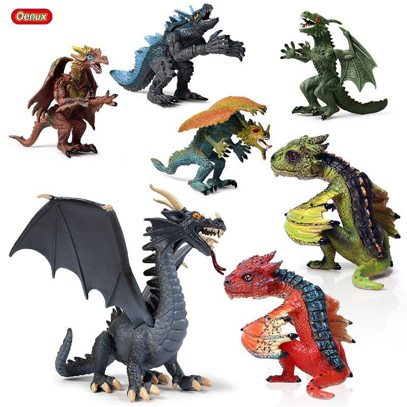 Losenlli Simulaci/ón Dinosaurio Modelo de Juguete Rojo Rex tiranosaurio