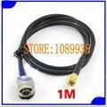 Бесплатная доставка рф антенны calbe 1 м 50 - 3 расширение провода шнура кабеля SMA папа-n-мужчин штекер антенного разъема