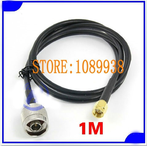 RF antenna cable 1m 50-3 Extension Wire Cable Cord SMA Male To N Male Plug Antenna Connector