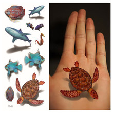 Flash Tattoo 3D Temporary Tattoo Sticker Fake Tortoise Pattern Tattoo Sex Henna Tatouage Colorful Tattoo Aramex Tatuajes Dorados