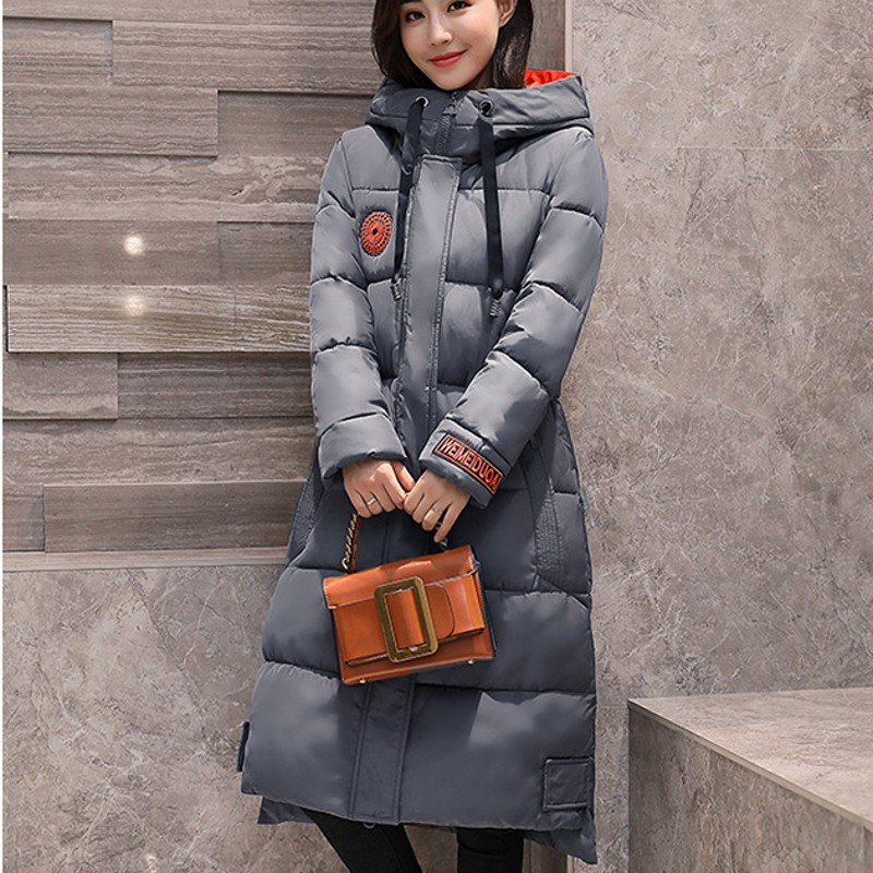 Boyfriend Oversize Womens Winter Jacket Casual Loose Fit Coat Female Hooded Warm Outwear Coat Down Jacket Long Large Size L-5XL