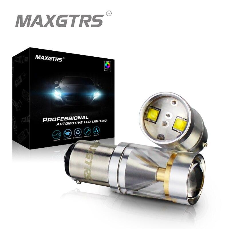 2x S25 1157 BAY15D 30 W CREE Puce LED Avec Lentille degrés Éclat Conduite Lampe Ampoule De Frein De Voiture Back-Up Sourcing Lumière blanc/Jaune
