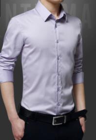 Jeune Sa D'affaires 1 223 Longues Décontracté 2018 Cultiver shirt Nouveau Manches Hommes Pour À Le Homme Chemises T Moralité Joker EOHwIIWqn