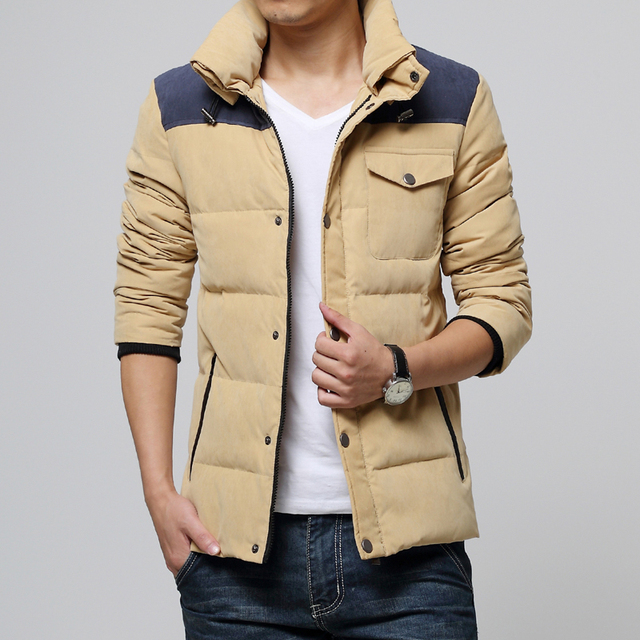Homens jaqueta de inverno 2016 para baixo parka casaco 2016 outono e inverno roupas jaqueta masculina Coreano dos homens jaqueta de veludo dos homens 90 dos homens wint