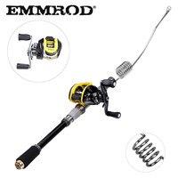 EMMROD Bait Casting Fishing rod fish tackle Scalable 72cm fish rod BaitCast Reel Lure/Boat /Raft/Sea/Rock Fishing rod GSQ WD