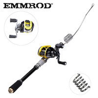 EMMROD Bait Casting Fishing rod fish tackle Scalable 72cm fish rod BaitCast Reel Lure/Boat /Raft/Sea/Rock Fishing rod GSQ WD