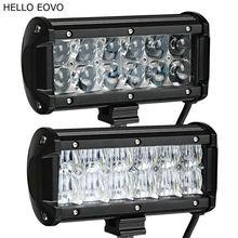 Hello eovo реального Мощность 4D 5D 7 дюймов 2 шт. светодиодные панели для работы для вождения Offroad Лодка автомобиль тягач 4×4 внедорожник ATV 12 В 24 В