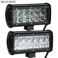HELLO EOVO 4D 5D 7 Inch 60W 2pcs LED Light Bar For Work Indicators Driving Offroad