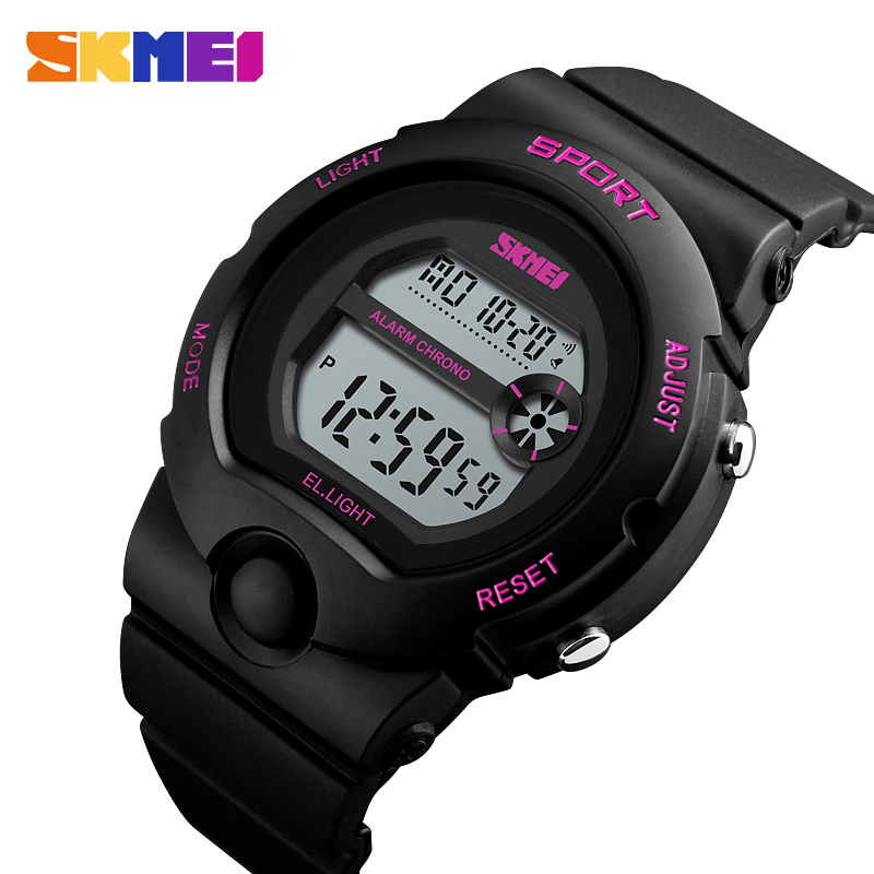 Skmei Women Sport Watches Luxury Brand Female LED Electronic Digital Watch Waterproof Ladies Wristwatch Relogio Feminino 1334
