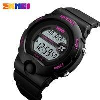 Skmei kobiety Sport zegarki luksusowe marki kobiet LED cyfrowy zegarek elektroniczny wodoodporny zegarek damski Relogio Feminino 1334 w Zegarki damskie od Zegarki na