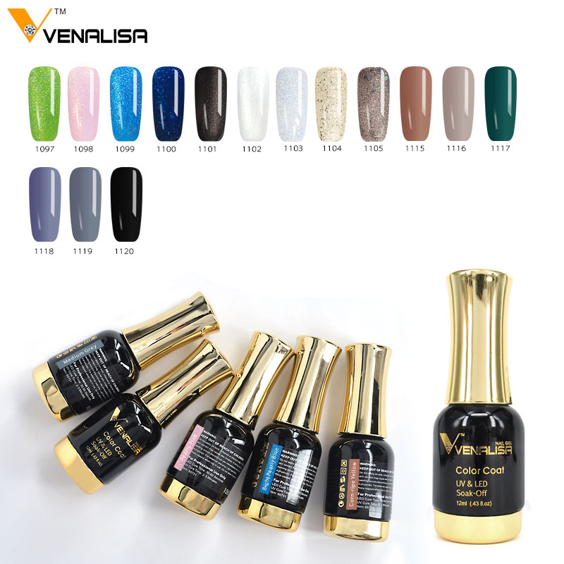 12ml VENALISA Glitter Color Gel Polish Soak Off
