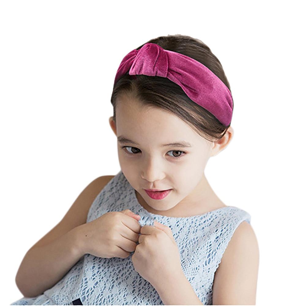 Toddler Girls Kid Baby Hairband Headband Solid Velvet Party Decorative Head Wrap