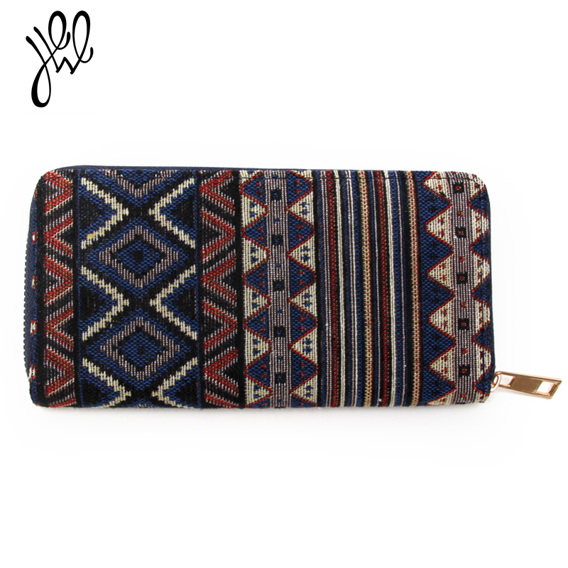 2018 New Fashion Women Wallets Canvas Long Zipper Coin Purses With Card Holders Best Gift For Friends Minimalist Wallet 500713