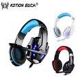 KOTION EACH G9000 gaming headset pc gamer компьютерные наушники с микрофоном LED шумоподавления для пк/ps4/tablet/сотовый телефон