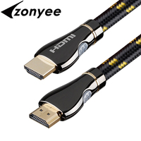 Zonyee HDMI Cable 3m 10 Feet Braided Cord High Speed 3D 4K HDMI 2 0 Ready