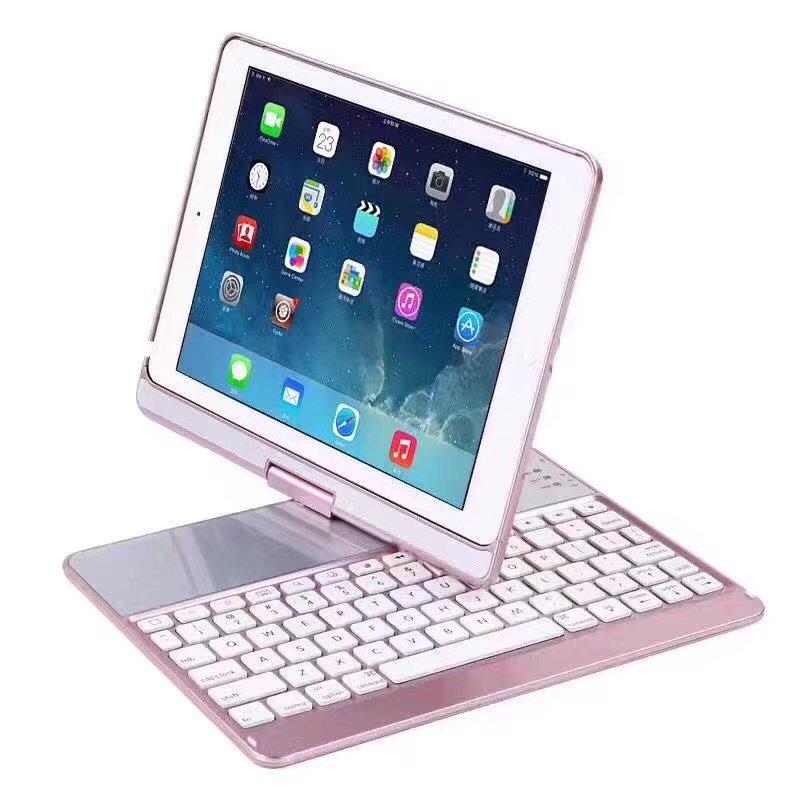Ultra Slim Mini Wireless Bluetooth backlit Multifunctional Tablet 3.0 rotate Keyboard For iPad Pro 9.7 / PRO 2017 /air 1/2