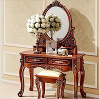 Европейский зеркало столик спальни комод французский мебель французский туалетный столик pfy800