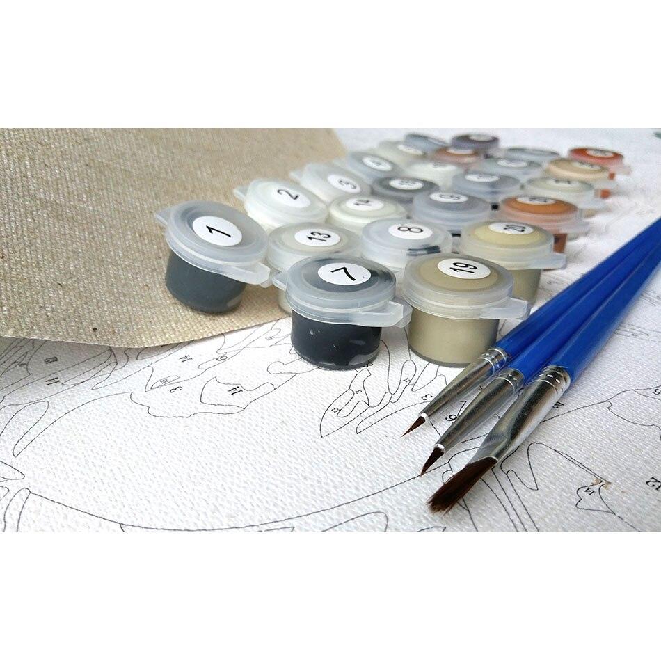 KENISTORIJA Roza Evropa Cvet DIY slikanje s številkami Akrilna barva - Dekor za dom - Fotografija 5