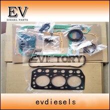 EV ремонт двигателя K3D Полный Прокладка Головки Блока Цилиндров Комплект для Mitsubishi мини-экскаватор
