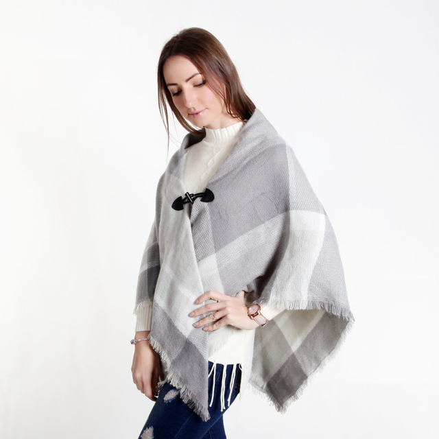 US $8 23 35% OFF|Double Layers Women's Triangle Warm Shawl Wraps Cashmere  Scarf Pashmina Shawls Scarves Ponchos and Capes 140*140*200cm For Women-in