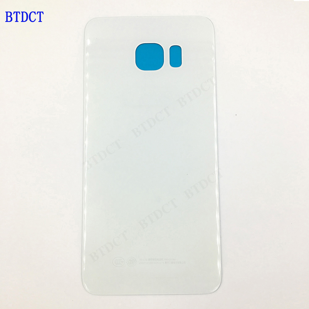 10pcs/lot BTDCT For samsung S6 edge + plus battery back cover G9280 glass back cover with Adhesive Sticker 10pcs/lot BTDCT For samsung S6 edge + plus battery back cover G9280 glass back cover with Adhesive Sticker