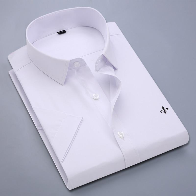 Image 4 - Dudalina Camisa Male Shirt Short Sleeve Men Shirt Brand Clothing Casual Slim Fit Camisa Social Masculina Chemise Homme No PocketCasual Shirts   -