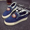 Free shipping Spring new letters cowboy flash flat casual canvas shoes a pedal Loafers