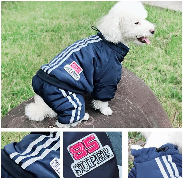 Warm Winter Pet Dog Coat clothes Thick dog Jumpsuits Overalls for Dogs Small Dog Clothes Warm Pet Outfit Clothing 1