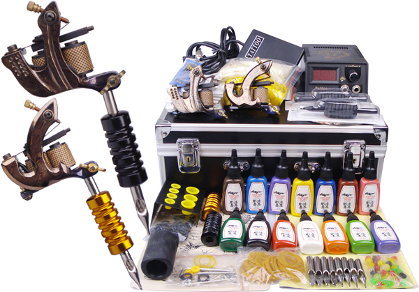 Damascus tattoo machine complete tattoo kit professional for Supplies for tattooing
