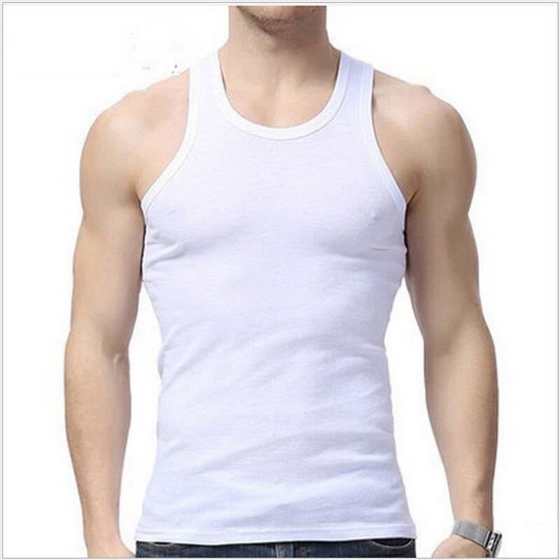 3colors   Tank     Top   Men Bodybuilding Clothing Fitness Mens Sleeveless gyms Vests Cotton Singlets Muscle   Tops   Plus Size XXXL