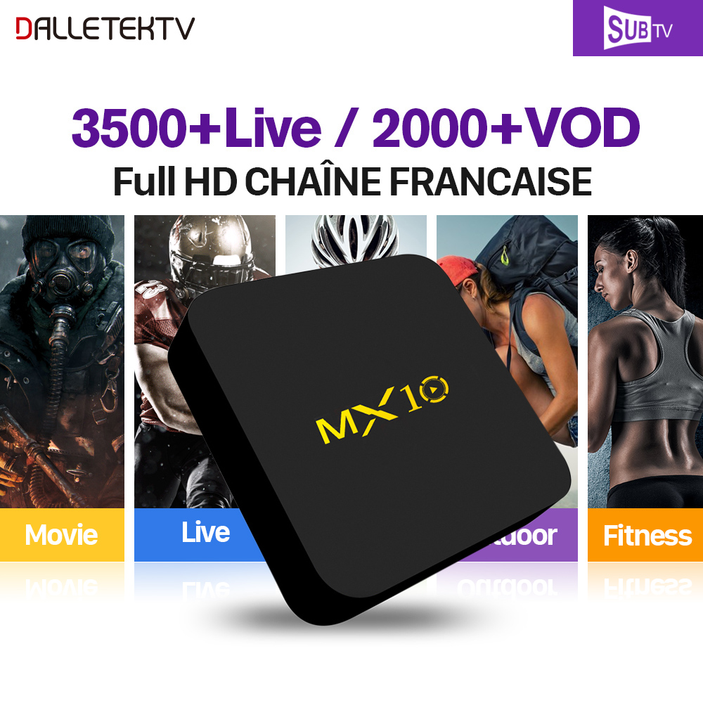 Здесь продается  MX10 IP TV French Box Full HD Android 7.1 4G+32G RK3328 with SUBTV IPTV Subscription Europe Arabic Canada Belgium French IPTV  Бытовая электроника