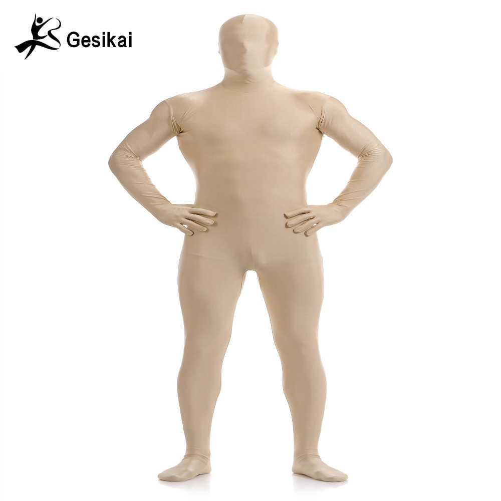 77c26665c5 ... Gesikai Men s Spandex Zentai Lycra Full Bodysuit Men s Zentai Suit  Custom Second Skin Tights Suit Halloween ...