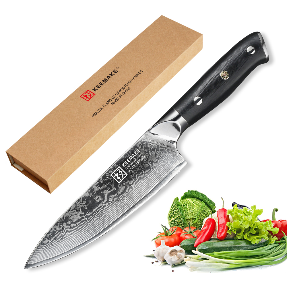 KEEMAKE 6 5 inch Chef Knife Kitchen Knives Cutting Tools Japanese Damascus VG10 Steel Core Razor