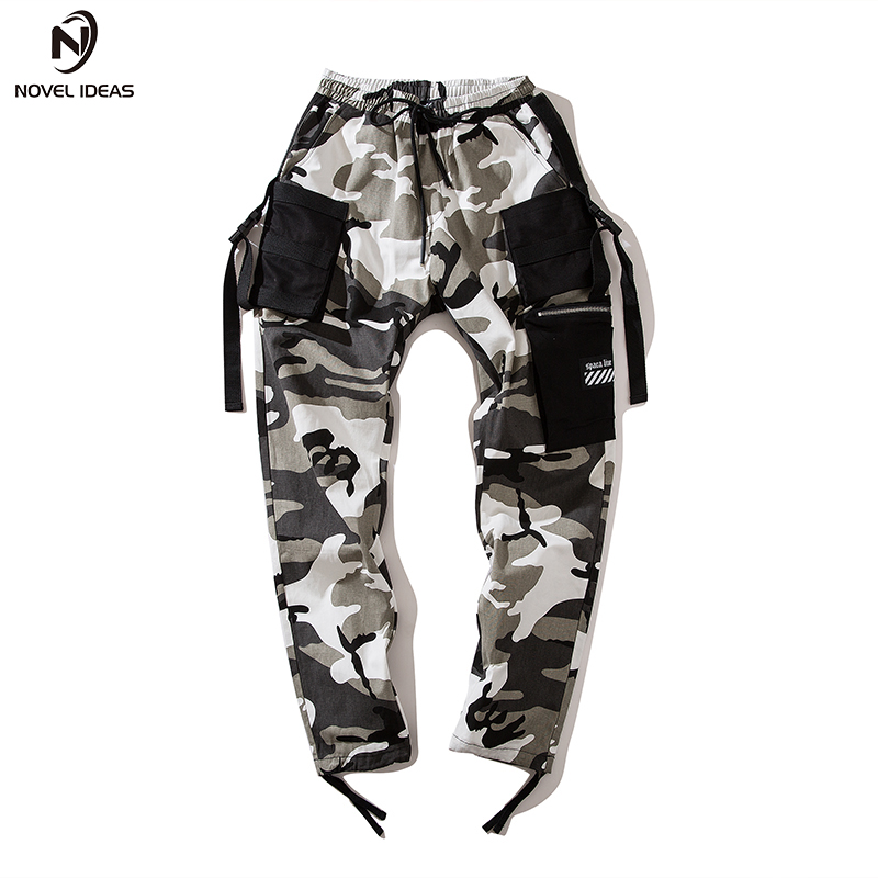 Image 4 - Novel ideas Fashion Men Camouflage Pant High Waist Hiphop Pink Camo Pant Military Pant Jogger Dance Pant US Size-in Casual Pants from Men's Clothing