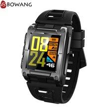 Купить с кэшбэком IP68 Waterproof Swimming Smart Watch Square GPS Water Sports Smartwatch BOWANG Heart Rate Monitor Compass Pedometer Men W21