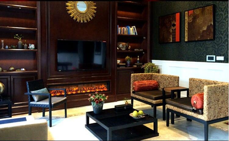 1800 400 200mm Indoor Metal Designer Electric Fireplace