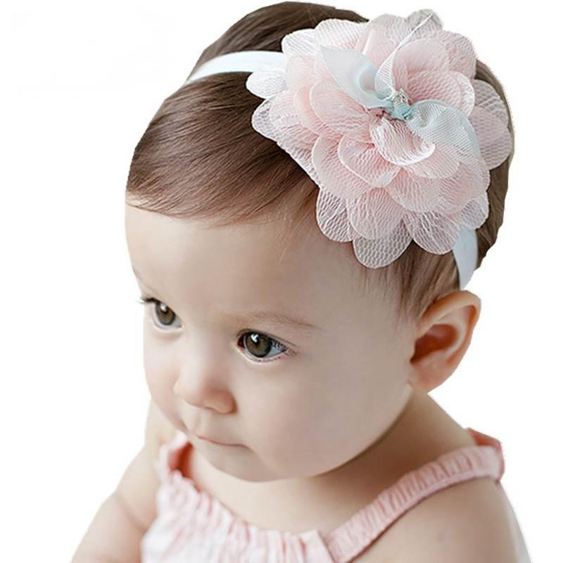 Kawaii Girls Lace Flower Headband For Baby Kids Girl Big
