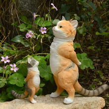 Креативное украшение для сада, товары для дома из смолы, скульптура для животных, стол, котенок, украшения, милые куклы, подарки