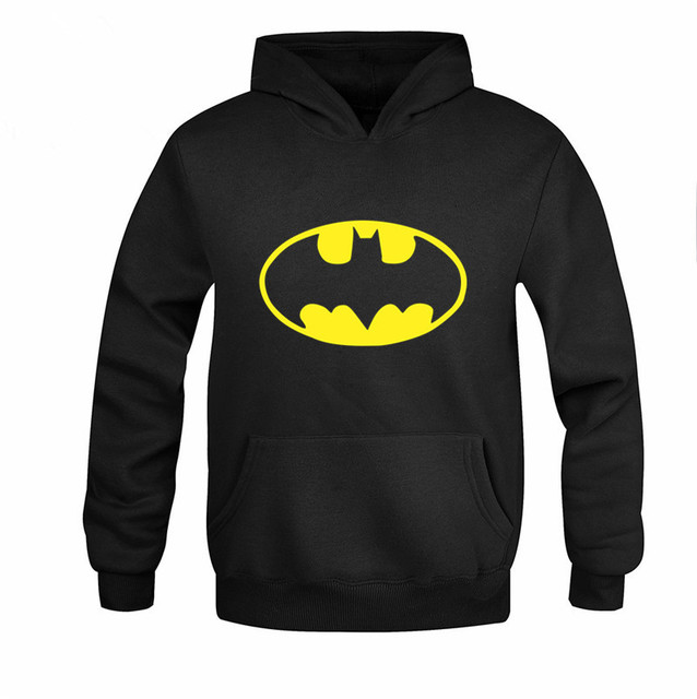 2016 Fashion Mens Hoodies Long Sleeve Casual Pullover Hoodies Chandal Hombre Sleeve batman Men Hooded Sweatshirt Plus Size M-3XL