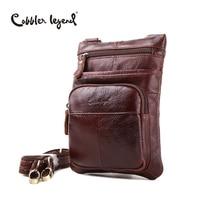 Cobbler Legend Brand Design Genuine Leather Men's Waist Pack Bag 2017 New Fanny Pack For Men Travel Belt Bag Male Messenger Bag