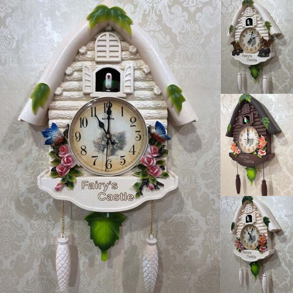 Alarm Clock Cuckoo Bird Wall Clock Guess Women Watch Mechanism Brief Children Home Decoration Quartz Relogio Parede Gift 5ZB054Alarm Clock Cuckoo Bird Wall Clock Guess Women Watch Mechanism Brief Children Home Decoration Quartz Relogio Parede Gift 5ZB054
