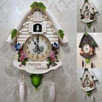 Alarm Clock Cuckoo Bird Wall Clock Guess Women Watch Mechanism Brief Children Home Decoration Quartz Relogio Parede Gift 5ZB054