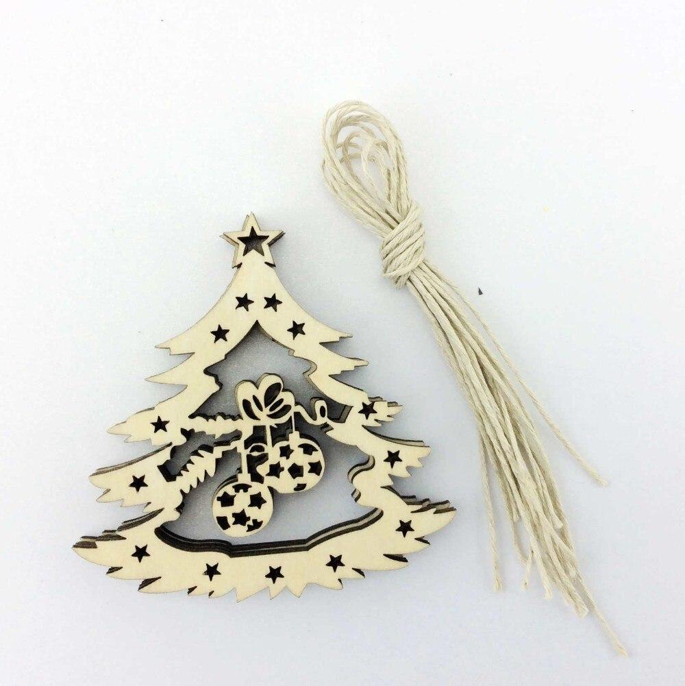 Envío libre decoración del árbol de navidad colgante de madera de ...