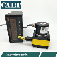 CALT linear displacement sensor 500mm stroke range steel wire encoder with HB961 digital display counter