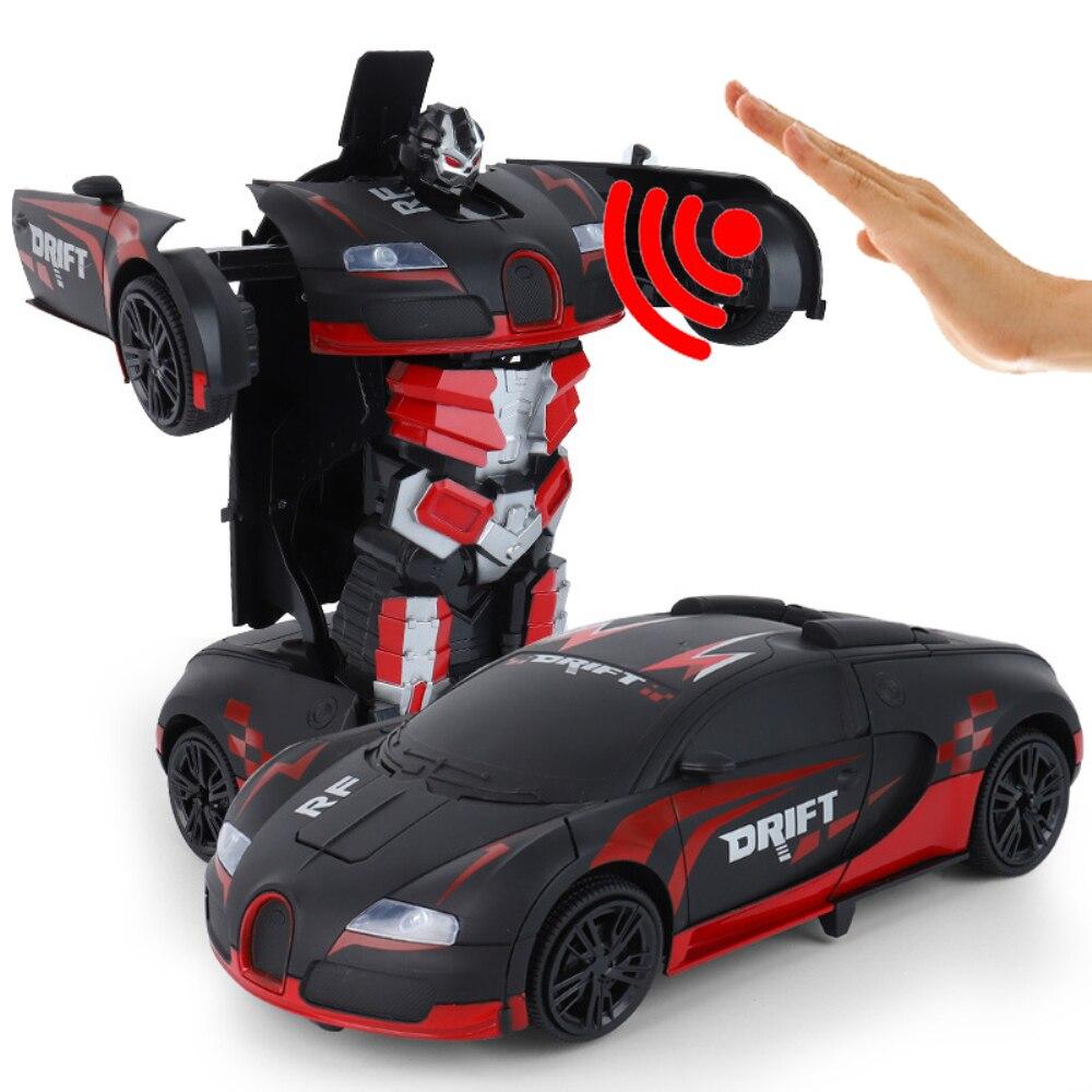 Haute qualité RC voiture 1:12 grand geste détection électrique Transformation Robots voitures de sport dérive modèle télécommande voiture jouet - 2