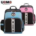 UNME brand backpack schoolbag children boys and girls in upper primary and junior middle school bags orthopedic burdens